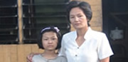 Imprisoned missionary's wife and daughter