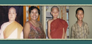Former buddhist nun and her son