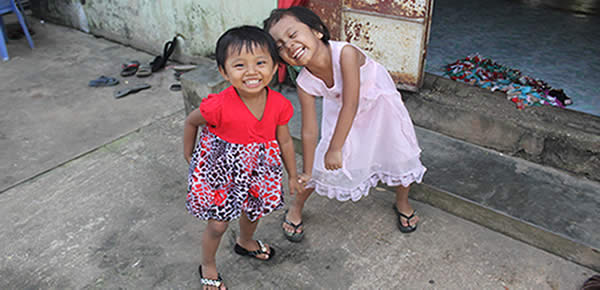 Two burmese orphan girls